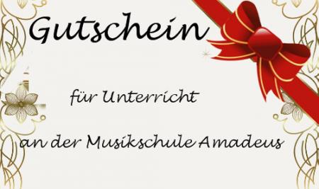 Die Geschenkidee zum Weihnachtsfest: Gutschein für Musikunterricht